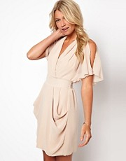 Love Tulip Dress with Cold Shoulder