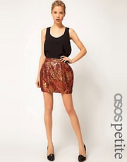 ASOS PETITE Exclusive Bell Skirt In Jacquard