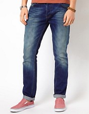 Minimum Slim Fit Jeans With Vintage Wash