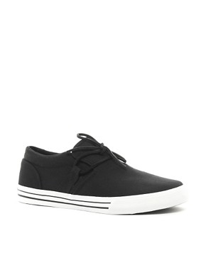 Image 1 of Supra Cuban Canvas Tie-Front Trainers