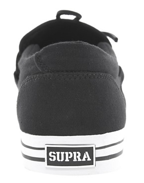 Image 2 of Supra Cuban Canvas Tie-Front Trainers