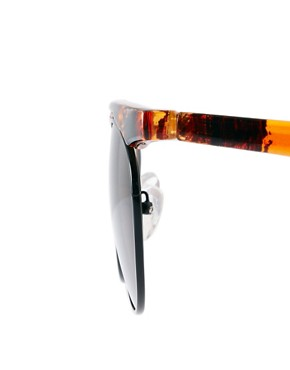 Image 4 ofASOS Flat Top Bar Detail Round Sunglasses