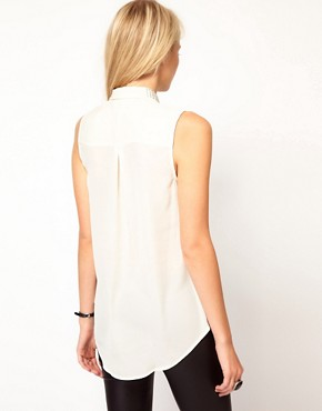 Image 2 ofOasis Embellished Collar Blouse