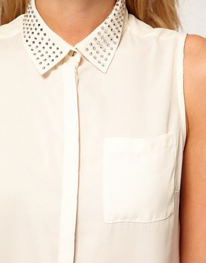 Image 3 ofOasis Embellished Collar Blouse