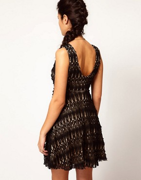 Image 2 of River Island Chelsea Girl Lace Skater Dress