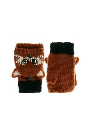 Image 1 ofASOS Fox Convertor Gloves