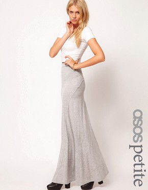 Image 1 ofASOS PETITE Maxi Skirt With Seam Detail