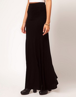 Image 4 ofASOS PETITE Maxi Skirt With Seam Detail