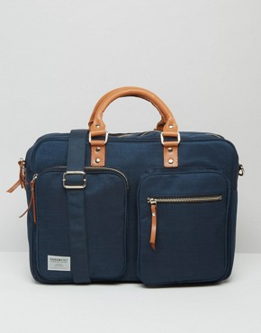 Sandqvist Arne Cordura Laptop Bag In Blue