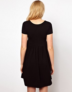 Image 2 ofASOS Maternity Wrap Skater Dress with Cap Sleeve