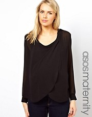 ASOS Maternity Exclusive Blouse with Drop Collar Detail