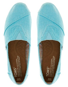 Image 2 ofTOMS Plametto Neon Canvas Flat Shoes