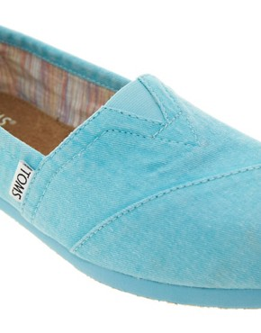Image 3 ofTOMS Plametto Neon Canvas Flat Shoes