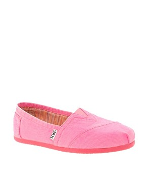 Image 1 ofTOMS Plametto Neon Canvas Flat Shoes