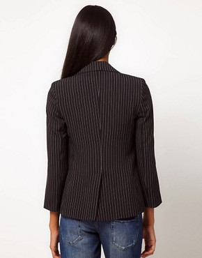 Image 2 ofASOS PETITE Exclusive Blazer With Pinstripe