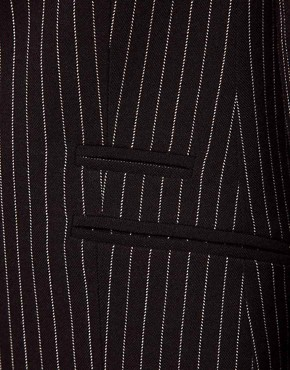 Image 3 ofASOS PETITE Exclusive Blazer With Pinstripe