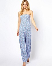 ASOS Floral Bandeau Harem Jumpsuit