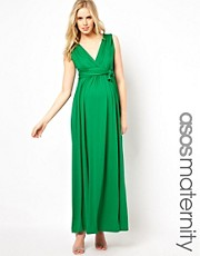 ASOS Maternity Exclusive Maxi Dress With Grecian Drape
