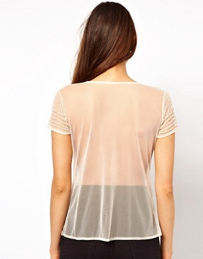 Image 2 ofTFNC Sheer T Shirt With Embellishment