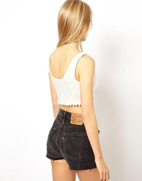 Image 2 ofASOS Pom Pom Crop Top