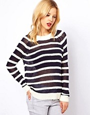 Mango Slub Stripe Jumper