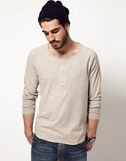 Camiseta henley de manga larga NJ de Nudie