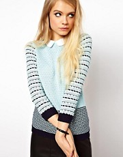 ASOS Striped Collared Sweater