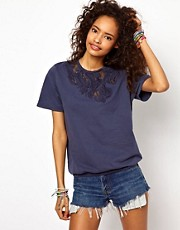 ASOS Sweatshirt in Acid Wash with Applique