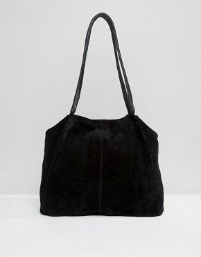 ASOS Suede Unlined Shopper Bag With Wrap Handle