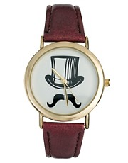 ASOS Top Hat Moustache Watch