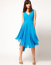 ASOS Chiffon Dress With Cut Out Back