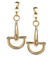 Gogo Philip Oversized Stirrup Drop Earrings