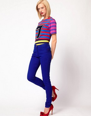 Image 1 ofHouse of Holland Skinny Jeans in True Blue