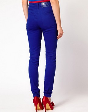 Image 2 ofHouse of Holland Skinny Jeans in True Blue