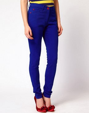 Image 4 ofHouse of Holland Skinny Jeans in True Blue