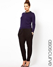 ASOS CURVE Peg Trousers In Jersey