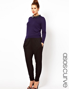 Image 1 ofASOS CURVE Peg Trousers In Jersey