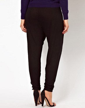 Image 2 ofASOS CURVE Peg Trousers In Jersey