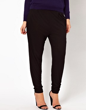 Image 4 ofASOS CURVE Peg Trousers In Jersey