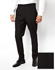 Pantalones de traje de corte slim en color negro de ASOS