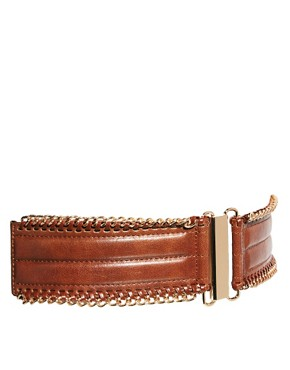 Image 1 of Oasis Chain Edge Elastic Waist Belt
