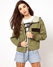 ASOS Cropped Jersey Lined Jacket