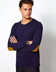 ASOS Long Sleeve T-Shirt With Contrast Elbow Patches