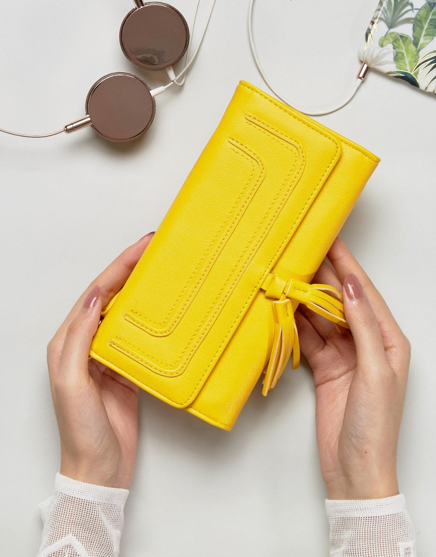 Yoki Foldover Purse - Yellow