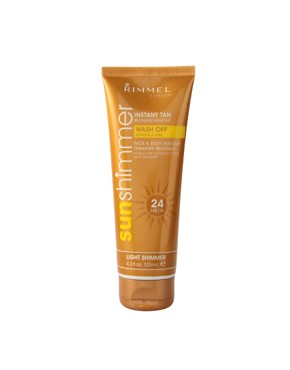 Image 1 ofRimmel London Sun Shimmer Instant Tan Make Up 125ml