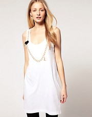 Markus Lupfer Tank Dress With Beaded Chain Print