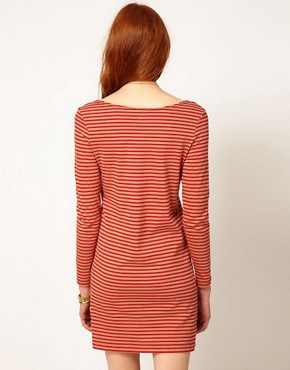 Image 2 ofPeople Tree Jersey Stripe Tunic Dress