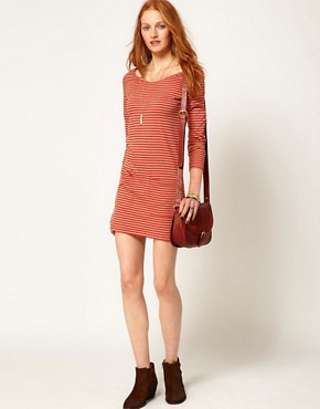 Image 4 ofPeople Tree Jersey Stripe Tunic Dress