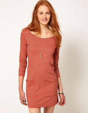 Image 1 ofPeople Tree Jersey Stripe Tunic Dress