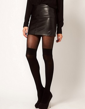 Image 1 ofPretty Polly Over The Knee Secret Sock Tights